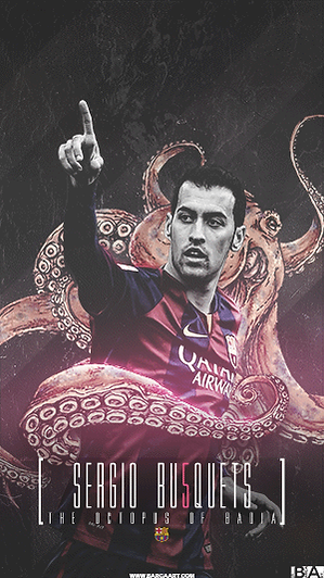 Busquets Octpus wallpaper