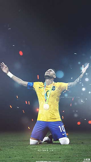 Neymar gold medal wallpaper