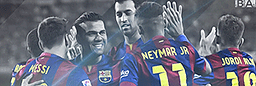 Barcelona team celebration Header