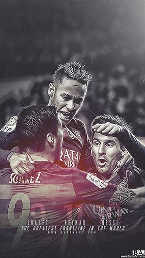 Messi Neymar Suarez training wallpaper