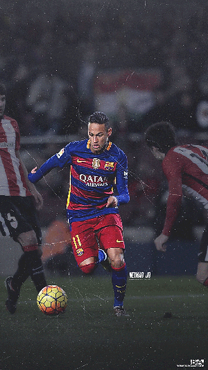 Neymar dribbling against Bilbao wallpaper