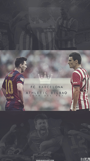 Barcelona vs Bilbao Copa del Rey wallpaper