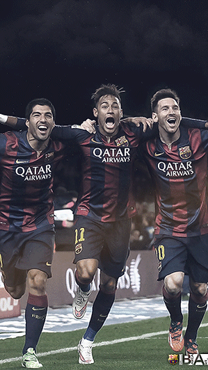 Messi Neymar Suarez celebration wallpaper