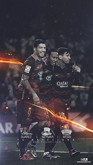 Messi Neymar Suarez King Magician Pistolero nicknames wallpaper