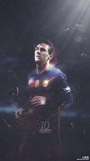 Messi grunge painting wallpaper