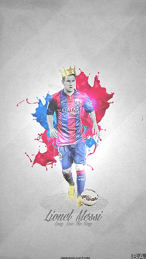 Lionel Messi king wallpaper