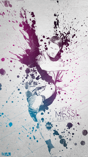 Messi abstract wallpaper