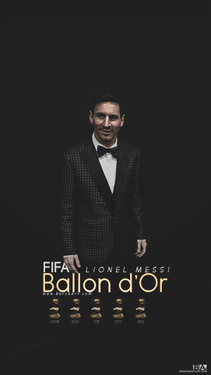 Messi Ballon d'or trophies wallpaper