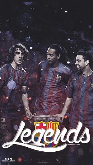 Barca legends Puyol Ronalidnho Xavi wallpaper
