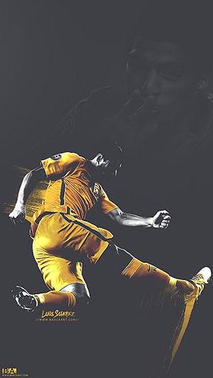 Suarez celebrating wallpaper
