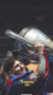 Messi lifting Champions League trophy wallpaper