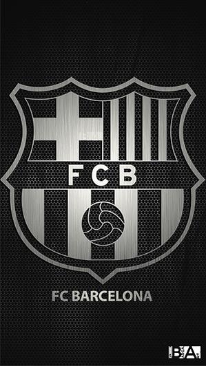 Barcelona logo black and white wallpaper