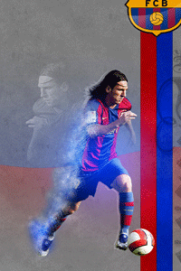 Messi displacement wallpaper