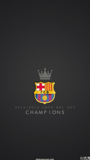 Barcelona copa del rey champions wallpaper