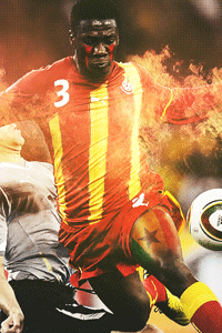 Asamoah Gyan Ghana Wallpaper