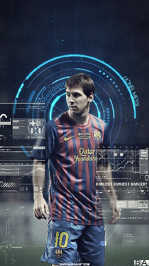 Messi futuristic wallpaper