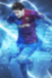 Messi Lightning wallpaper