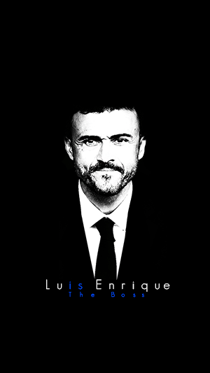 Luis Enrique black and white wallpaper
