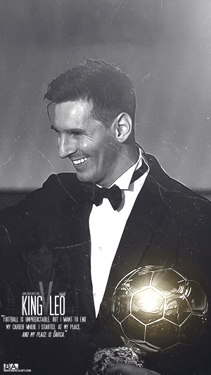 King Messi Ballon d'or wallpaper
