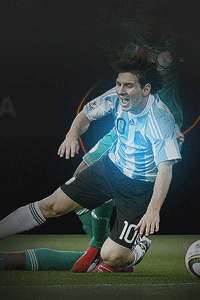 Messi fouled wallpaper
