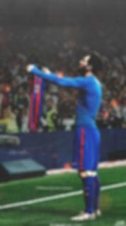 Messi celebration Clasico