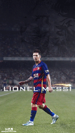 Messi walking wallpaper