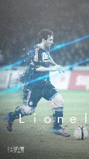 Messi argentina running displacement wallpaper