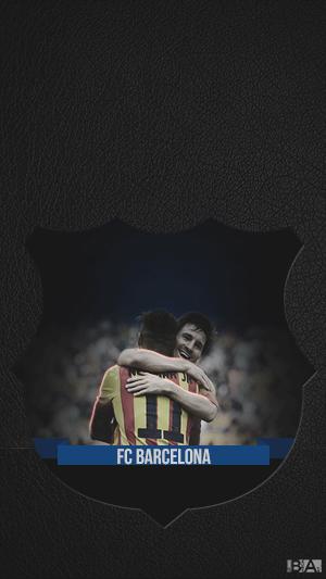 Messi Neymar hugging wallpaper
