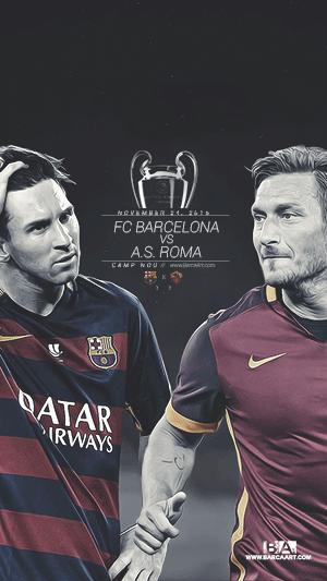 FC Barcelona vs Roma champions league wallpaper