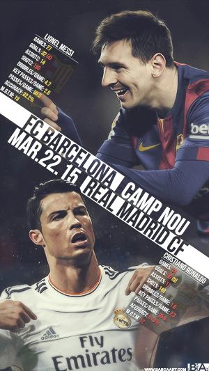 Messi vs Ronaldo statistics wallpaper