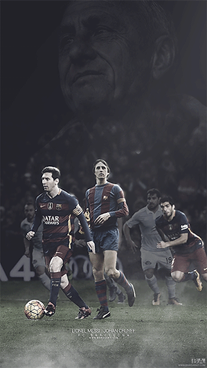 Messi taking a Cruyff penalty wallpaper