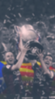 Iniest and Xavi lifting Copa Del Rey trophy wallpaper