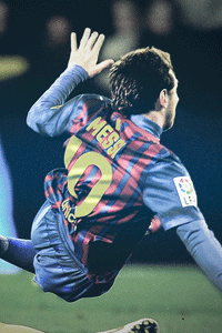 Messi fouled wallpaper 2