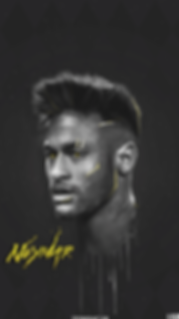 Neymar polugonal painting wallpaper