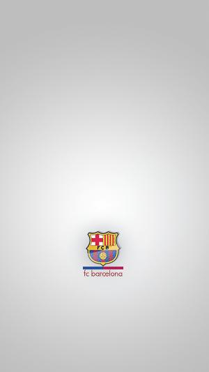 Minimalistic FC Barcelona logo wallpaper