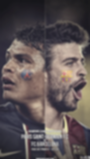 Barcelona vs PSG champions league wallpaer