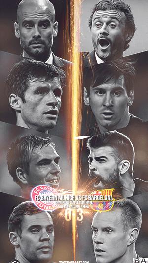 Barca vs Bayern Munich champions league wallpaper