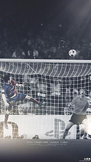 Messi Goal Vs Man U wallpaper