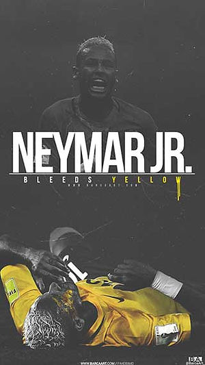 Neymar bleeding brazil wallpaper