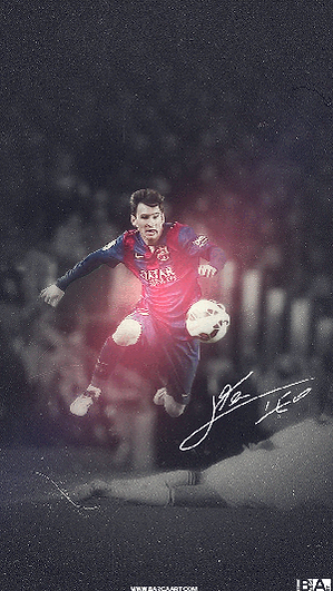 Lionel Messi jumping wallpaper