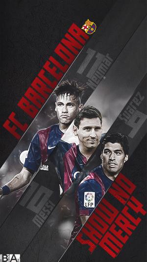 Messi Neymar Suarez Show no Mercy wallpaper
