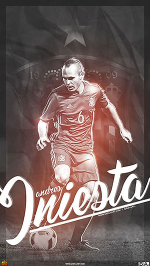Iniesta Spain wallpaper