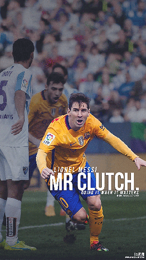 Messi Mr clutch celebrating goal wallpaper