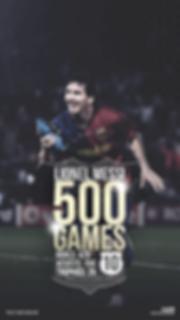 Messi 500 la liga games wallpaper