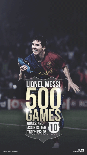 Messi 500 la liga games wallpaper