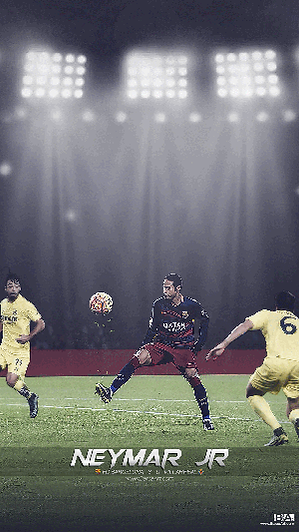 Neymar wonder goal against Villarreal wallpaper