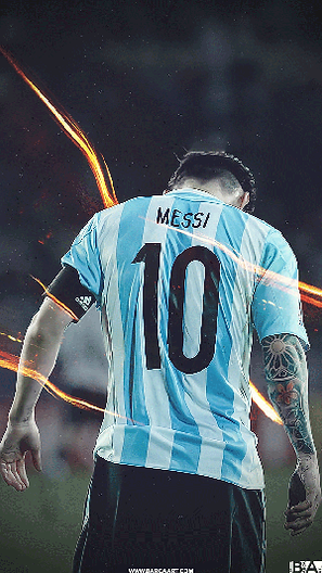 Messi Argentina back wallpaper