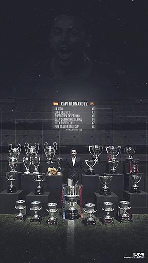 Xavi trophy collection wallpaper