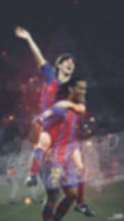 Messi and Ronaldinho wallpaper
