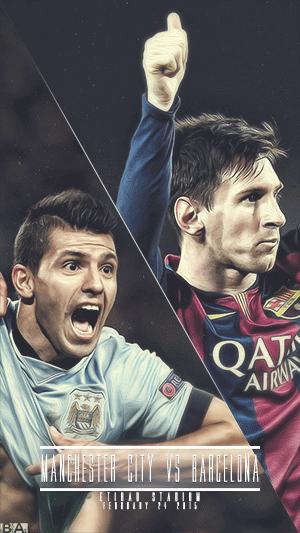 Barcelona vs Manchester City champions league wallpaper